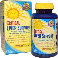 Renew Life, Critical Liver Support, 90 Veggie Caps