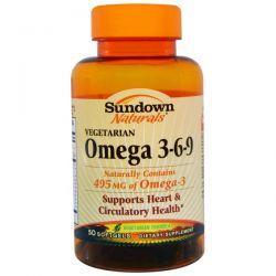 Rexall Sundown Naturals, Omega 3-6-9, Vegetarian, 50 Softgels