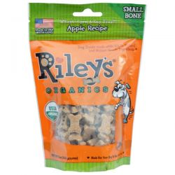 Riley's Organics, Dog Treats, Small Bone, Apple Recipe, 5 oz (142 g)