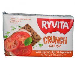 Ryvita, Wholegrain Rye Crispbread, Crunch, Dark Rye, 8.8 oz (250 g)
