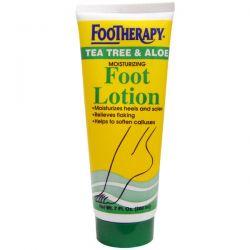 Queen Helene, FooTherapy, Moisturizing Foot Lotion, Tea Tree & Aloe, 7 fl oz (200 ml)