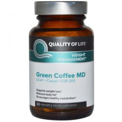 Quality of Life Labs, Green Coffee MD, GCA + Cissus CQR-300, 30 Veggie Caps
