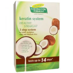 Palmer's, Coconut Oil Formula, Keratin System, Healthy Straight, 3-Step System