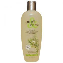 Pure & Basic, Natural Anti-Dandruff Shampoo, Tea Tree & Rosemary, 12 fl oz (350 ml)