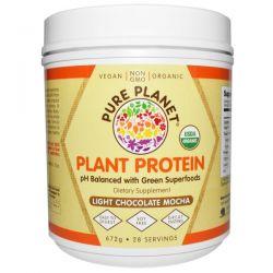 Pure Planet, Organic Plant Protein, Light Chocolate Mocha, 672 g