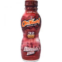 Oh Yeah!, Nutritional Shake, Strawberries & Creme, 14 fl oz (414 ml)