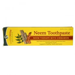 Organix South, TheraNeem Naturals, Neem Toothpaste, Neem Therape with Cinnamon, 4.23 oz (120 g)