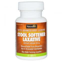 Naturade, Softex Advanced Body Cleansing, Stool Softener Laxative, 60 Tablets