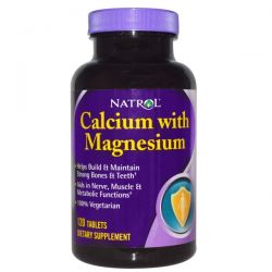 Natrol, Calcium with Magnesium, 120 Tablets
