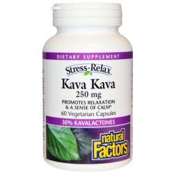 Natural Factors, Stress-Relax, Kava Kava, 250 mg, 60 Veggie Caps