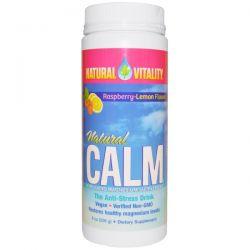 Natural Vitality, Natural Calm, Organic Raspberry-Lemon Flavor, 8 oz (226 g)