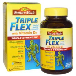 Nature Made, Triple Flex Triple Strength with Vitamin D3, 120 Caplets