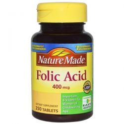 Nature Made, Folic Acid, 400 mcg, 250 Tablets