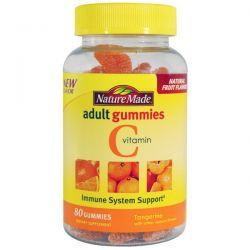 Nature Made, Vitamin C Adult Gummies, Tangerine, 80 Gummies