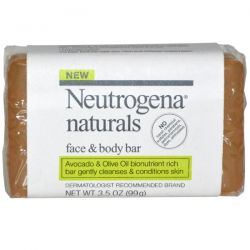 Neutrogena, Face & Body Bar, Fragrance Free, 3.5 oz (99 g)