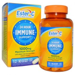 Nature's Bounty, 24 Hour Immune Support, Maximum Strength, 1000 mg, 90 Tablets