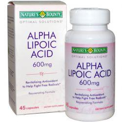 Nature's Bounty, Optimal Solutions, Alpha Lipoic Acid, 600 mg, 45 Capsules