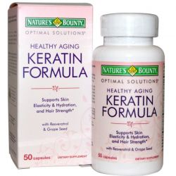 Nature's Bounty, Optimal Solutions, Healthy Aging Keratin Formula, 50 Capsules