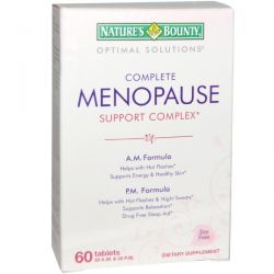 Nature's Bounty, Optimal Solutions, Complete Menopause Support Complex, 60 Tablets