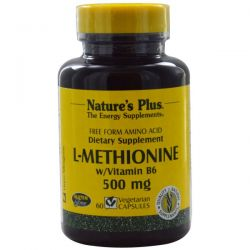 Nature's Plus, L-Methionine w/Vitamin B6, 500 mg, 60 Veggie Caps