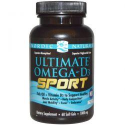 Nordic Naturals, Ultimate Omega-D3 Sport, 1000 mg, 60 Soft Gels
