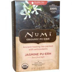 Numi Tea, Organic Pu-Erh Tea, Jasmine Pu-erh, 16 Tea Bags, 1.24 oz (35.2 g)