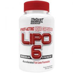 Nutrex Research Labs, Lipo 6, Maximum Strength, 120 Liqui-Caps