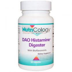 Nutricology, DAO Histamine Digester, 60 Capsules