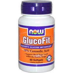Now Foods, GlucoFit, 60 Softgels