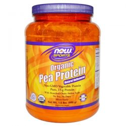 Now Foods, Sports Organic Pea Protein, Natural Unflavored, 1.5 lbs (680 g)