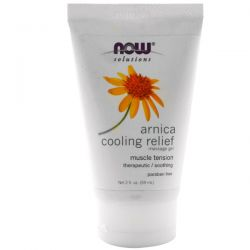 Now Foods, Solutions, Arnica Cooling Relief Massage Gel, 2 fl oz (59 ml)