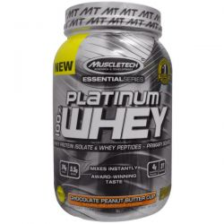 Muscletech, 100% Platinum Whey, Chocolate Peanut Butter Cup, 2.01 lbs (910 g)