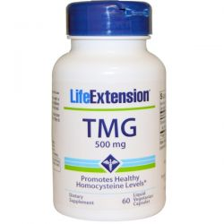 Life Extension, TMG, 500 mg, 60 Liquid Veggie Caps