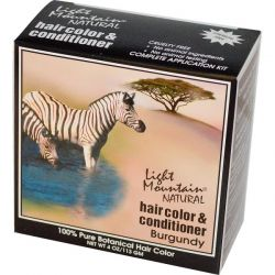 Light Mountain, Natural Hair Color & Conditioner, Burgundy, 4 oz (113 g)