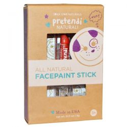 Luna Star Naturals, Pretendi Naturali, All Natural Facepaint Stick, Red, 0.11 oz (3 g)