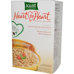 Kashi, Heart to Heart, Instant Oatmeal, 8 Packets, 1.5 oz (43 g) Each