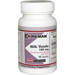 Kirkman Labs, Milk Thistle, 100 mg, 100 Capsules