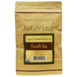 Just a Leaf Organic Tea, Fermented Black Tea, Pu-erh Tea, 2 oz (56 g)
