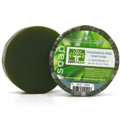 JustNeem, Fragrance Free Neem Soap, 4.2 oz (120 g)