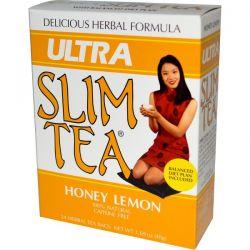 Hobe Labs, Ultra Slim Tea, Honey Lemon, 24 Herbal Tea Bags, 1.69 oz (48 g)