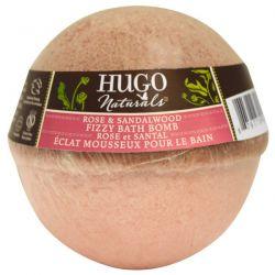 Hugo Naturals, Fizzy Bath Bomb, Rose & Sandalwood, 6 oz (170 g)