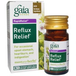Gaia Herbs, RapidRelief, Reflux Relief, 15 Chewable Tablets