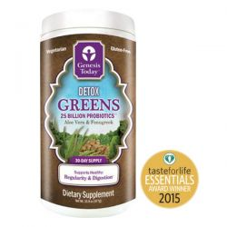 Genesis Today, Detox Greens, Aloe Vera & Fenugreek, 25 Billion Probiotics, 1 lb 0.8 oz (477 g)