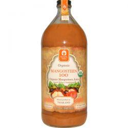 Genesis Today, Organic, Mangosteen 100, Organic Mangosteen Juice, 32 fl oz (946 ml)