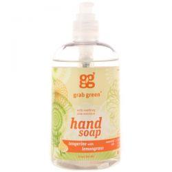 GrabGreen, Hand Soap, Tangerine with Lemongrass, 12 oz (355 ml)
