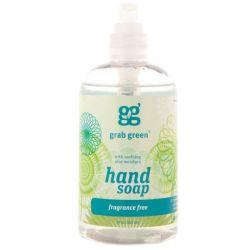 GrabGreen, Hand Soap, Fragrance Free, 12 oz (355 ml)