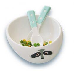 Greenpoint Brands, Eco Gift Set, Fork, Spoon & Bowl, Blue, 3 Piece Set