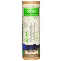 Eco Lips Inc., Hydrating Lip Balm, Revive, Herbal Mint, .3 oz (8.5 g)