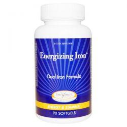 Enzymatic Therapy, Energizing Iron, Dual Iron Formula, 90 Softgels