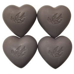 European Soaps, LLC, Pre de Provence, Hearts of Provence, Lavender Blossom, 4 Bar Soaps, 3.5 oz (100 g) Each